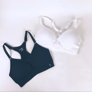 2 Danskin now bra's one black one white size M